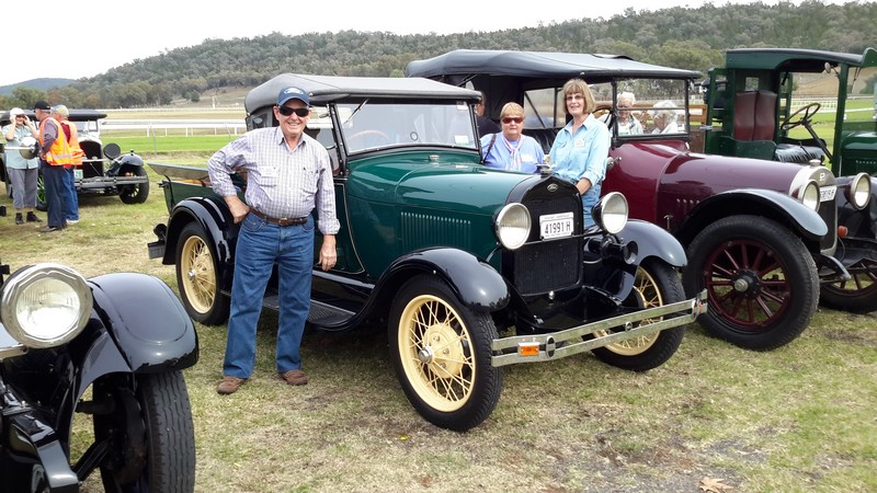 Col & Jeanette's 1928 Model A Ute with Margaret